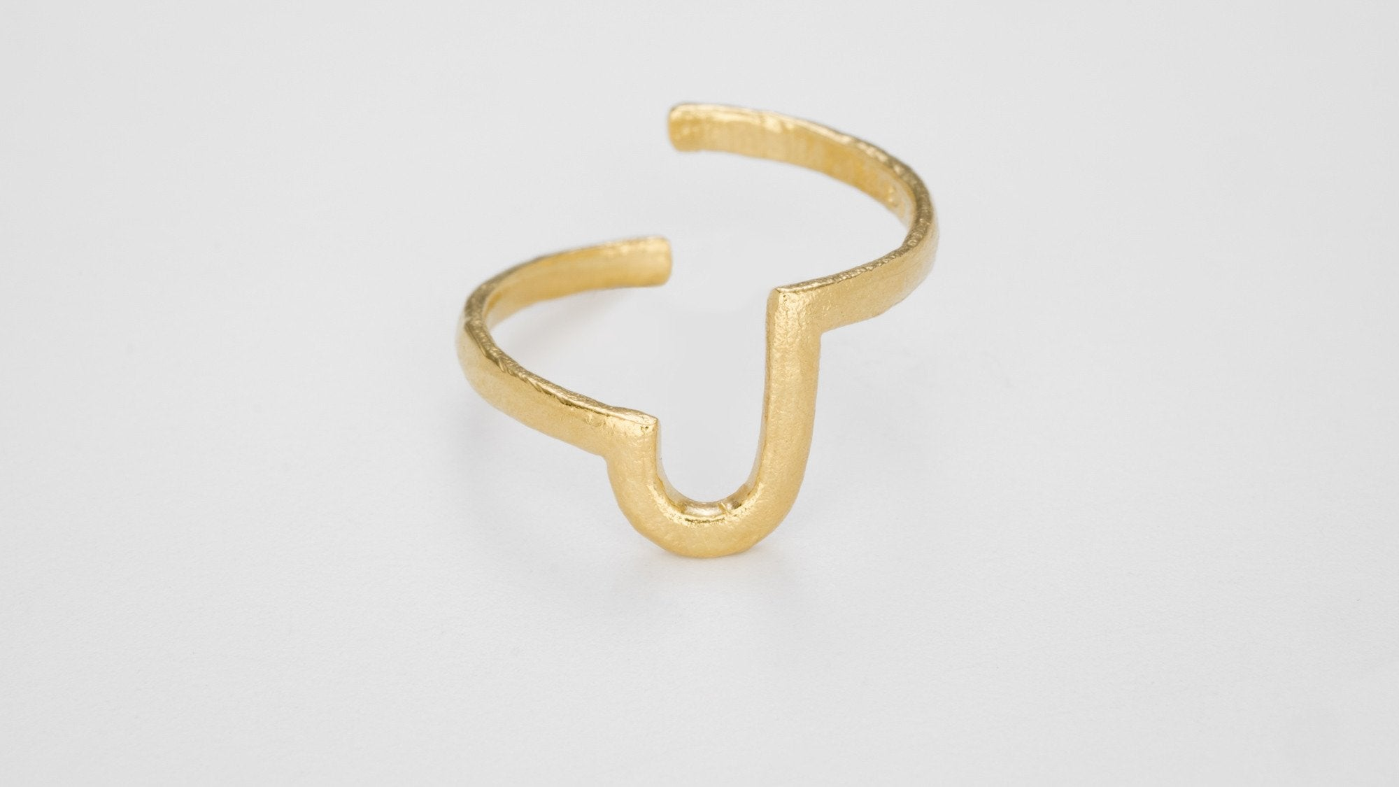 Gold Alphabet Rings - Bjørg Jewellery