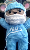 NHS Hero Crochet Bear