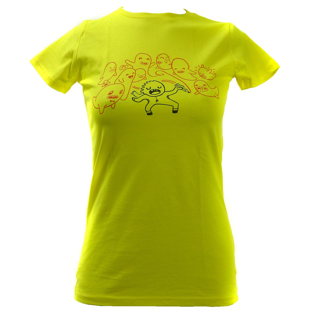 Women's SALE I Draw Ghosts Organic Fitted T-Shirt
