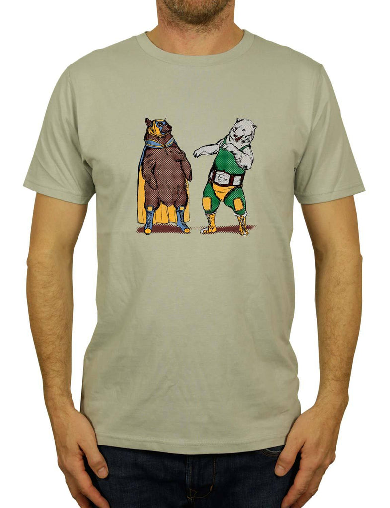 Boxing Bears Organic Unisex Men's or Women's Organic Cotton T-Shirt by ethical clothing brand SPUK T-shirts aka Spunky Tees