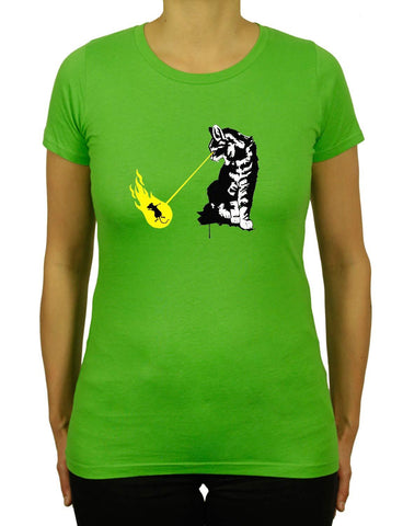 Women's CAT ZAPP Organic T-Shirt