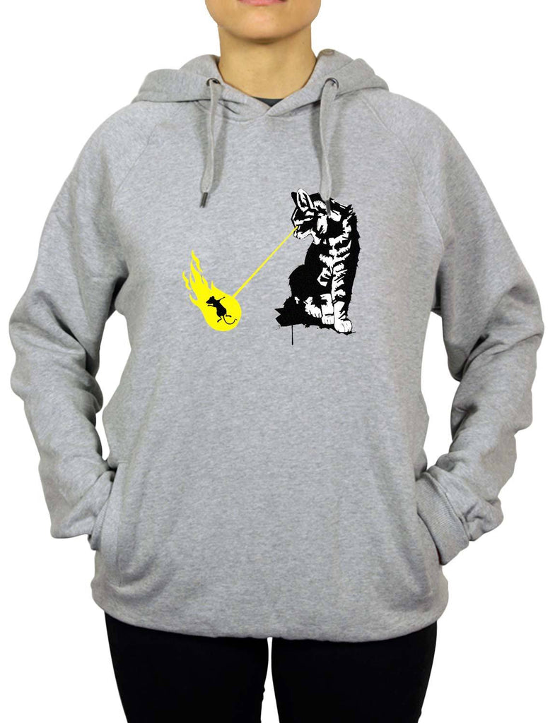 Cat Zapp Organic Unisex Men's or Women's Organic Cotton Hood by ethical clothing brand SPUK T-shirts aka Spunky Tees 1998