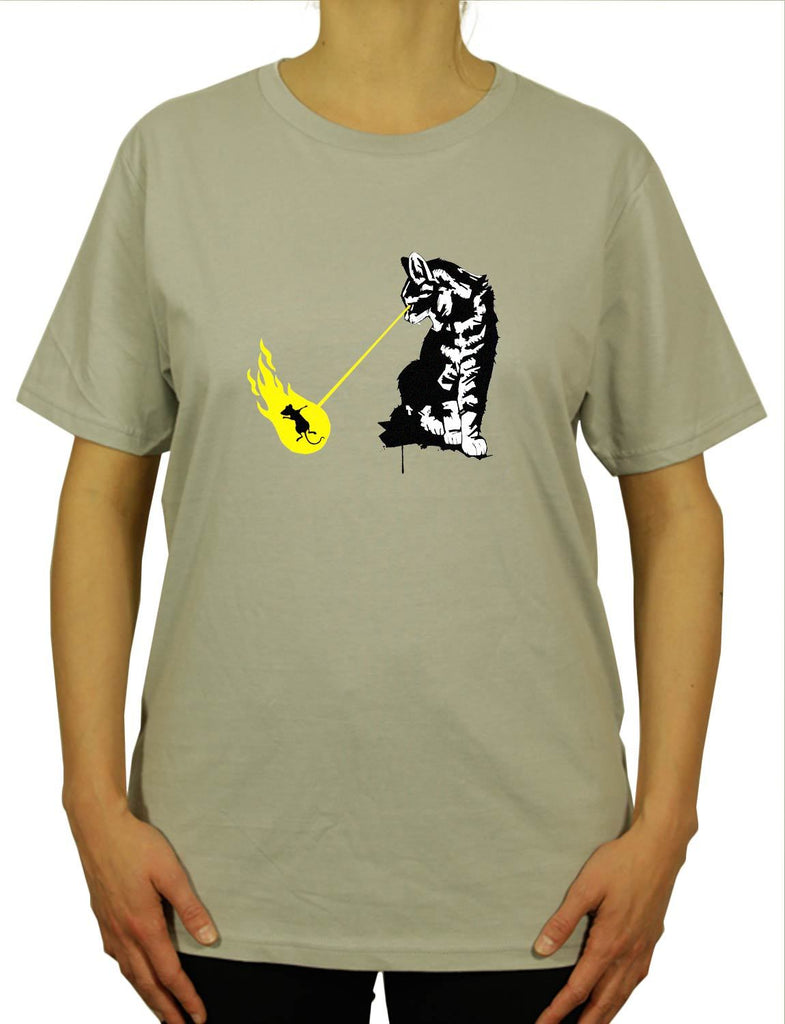 Cool Cat Zapp Unisex Mens or Womens Organic Cotton T-Shirt by ethical clothing brand SPUK T-shirts aka Spunky Tees since 1998