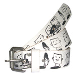 SPUK Unisex ESCAPING RECORDS White Belt