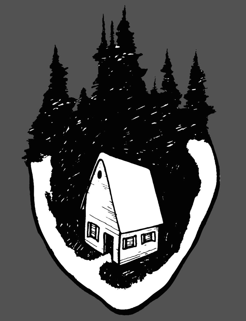 Home Is Where The Heart Is Unisex Mens or Womens Organic Cotton T-Shirt by ethical clothing brand SPUK T-shirts/Spunky Tees