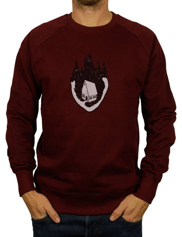 Unisex HOME IS WHERE THE HEART IS Organic Sweatshirt