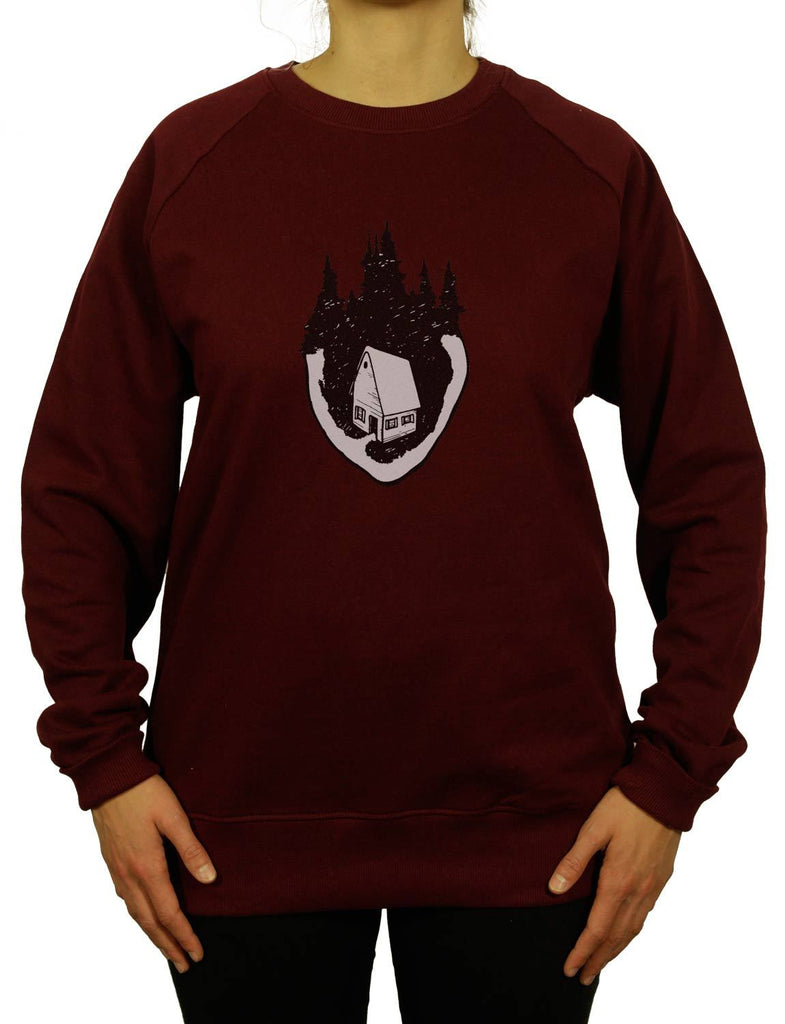 Home Is Where The Heart Is Unisex Men or Women Organic Cotton Sweatshirt by ethical clothing brand SPUK T-shirts/Spunky Tees