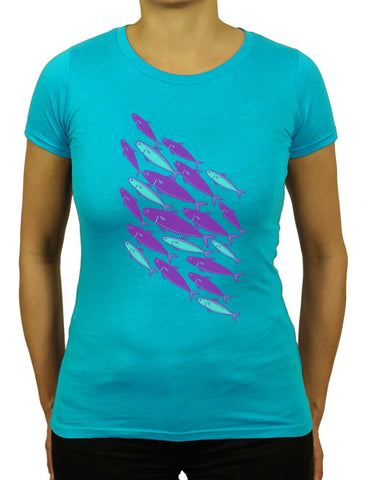 Women's MACKEREL SCHOOL Organic T-Shirt