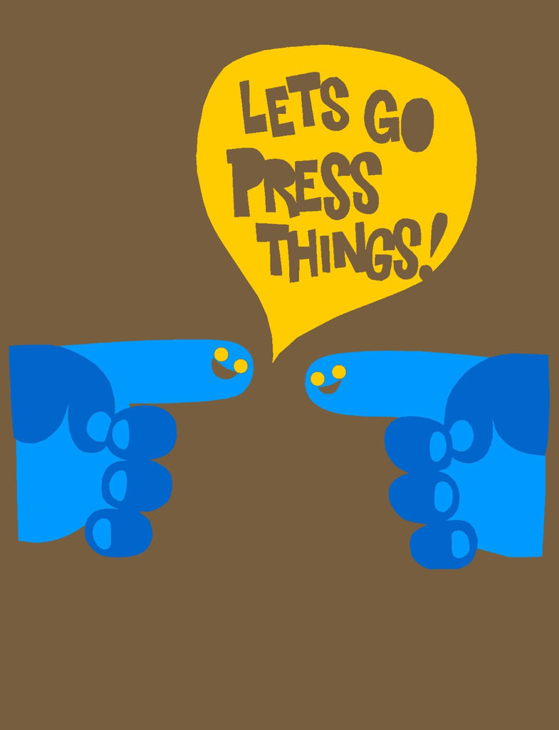 Unisex SALE Let's Press Things Organic T-Shirt