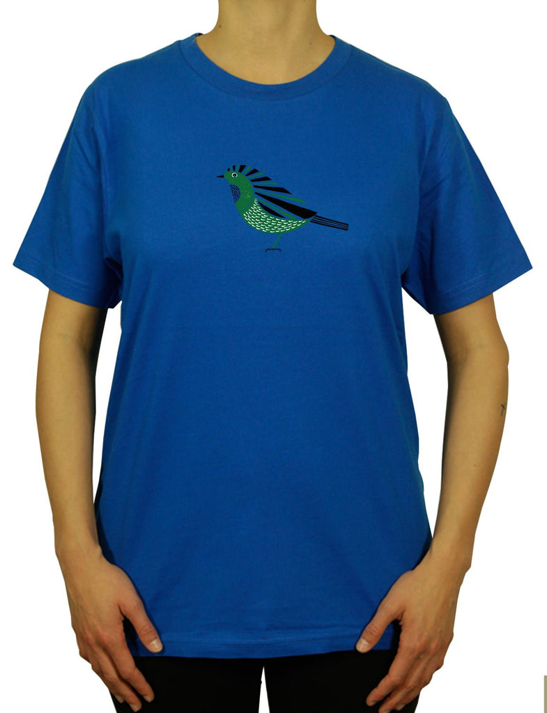 Cool Robin Unisex Mens or Women's Organic Cotton T-Shirt by ethical clothing brand SPUK T-shirts aka Spunky Tees since 1998