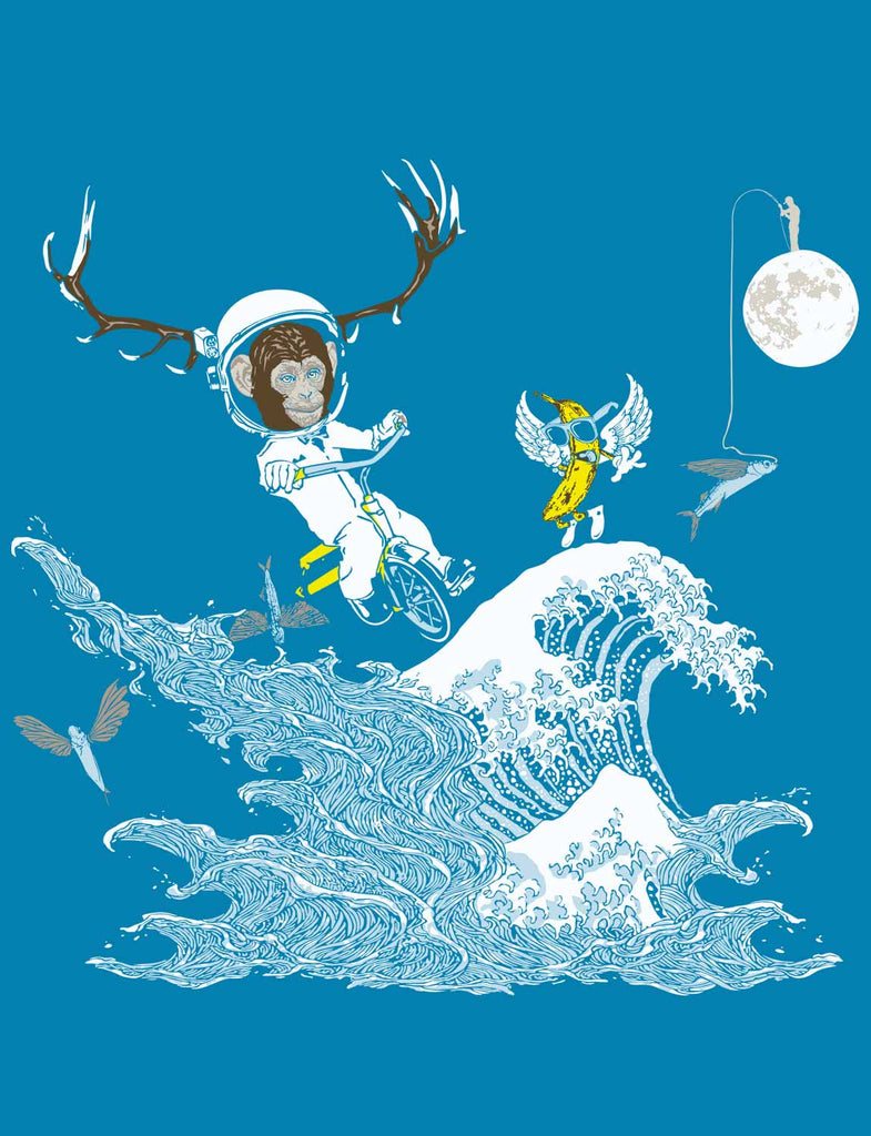 Cool Space Kid's Children's Child's Organic Cotton Tees by ethical clothing brand SPUK T-shirts aka Spunky Tees since 1998