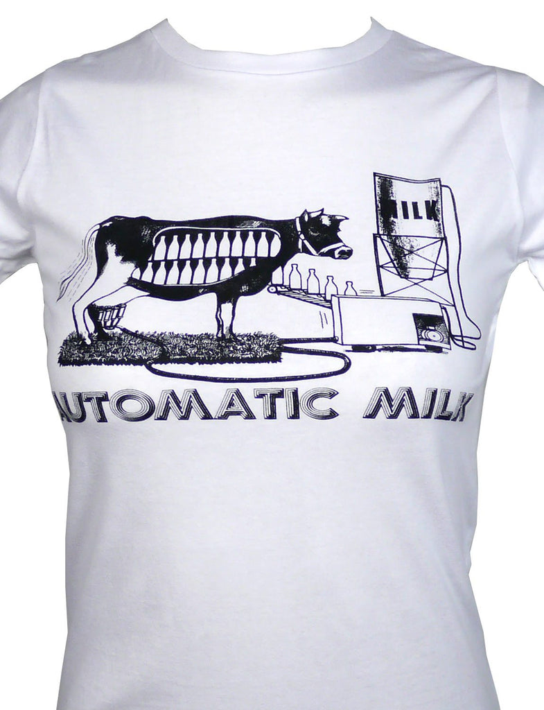 Women's SALE Automatic Milk Organic Fitted T-Shirt