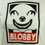 Mr Blobby SPUK Unisex Mens or Women Organic Cotton T-Shirt by ethical clothing brand SPUK T-shirts aka Spunky Tees since 1998