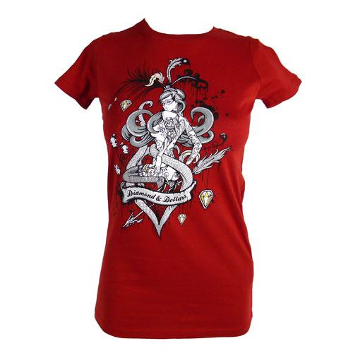 Women's SALE Diamonds and Dollars Organic Fitted T-Shirt