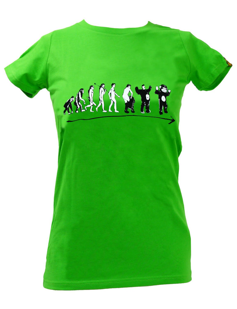 Monkevolution SPUK Unisex Men's or Womens Organic Cotton T-Shirt by ethical clothing brand SPUK T-shirts aka Spunky Tees 1998