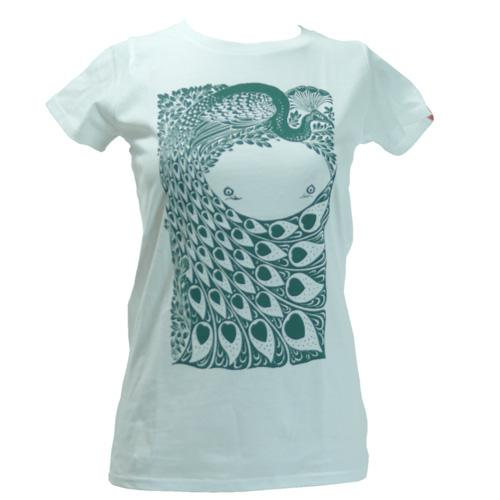 Women's SALE Peacock Organic Fitted T-Shirt