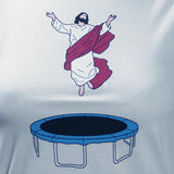 Women's SALE Trampoline Jesus Organic Fitted T-Shirt