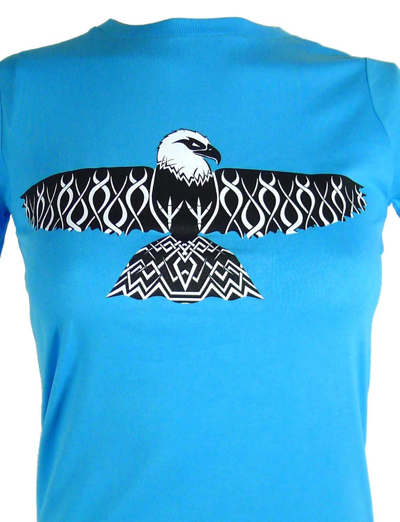 Tribal Eagle SPUK Unisex Men's or Women's Organic Cotton T-Shirt by ethical clothing brand SPUK T-shirts aka Spunky Tees 1998