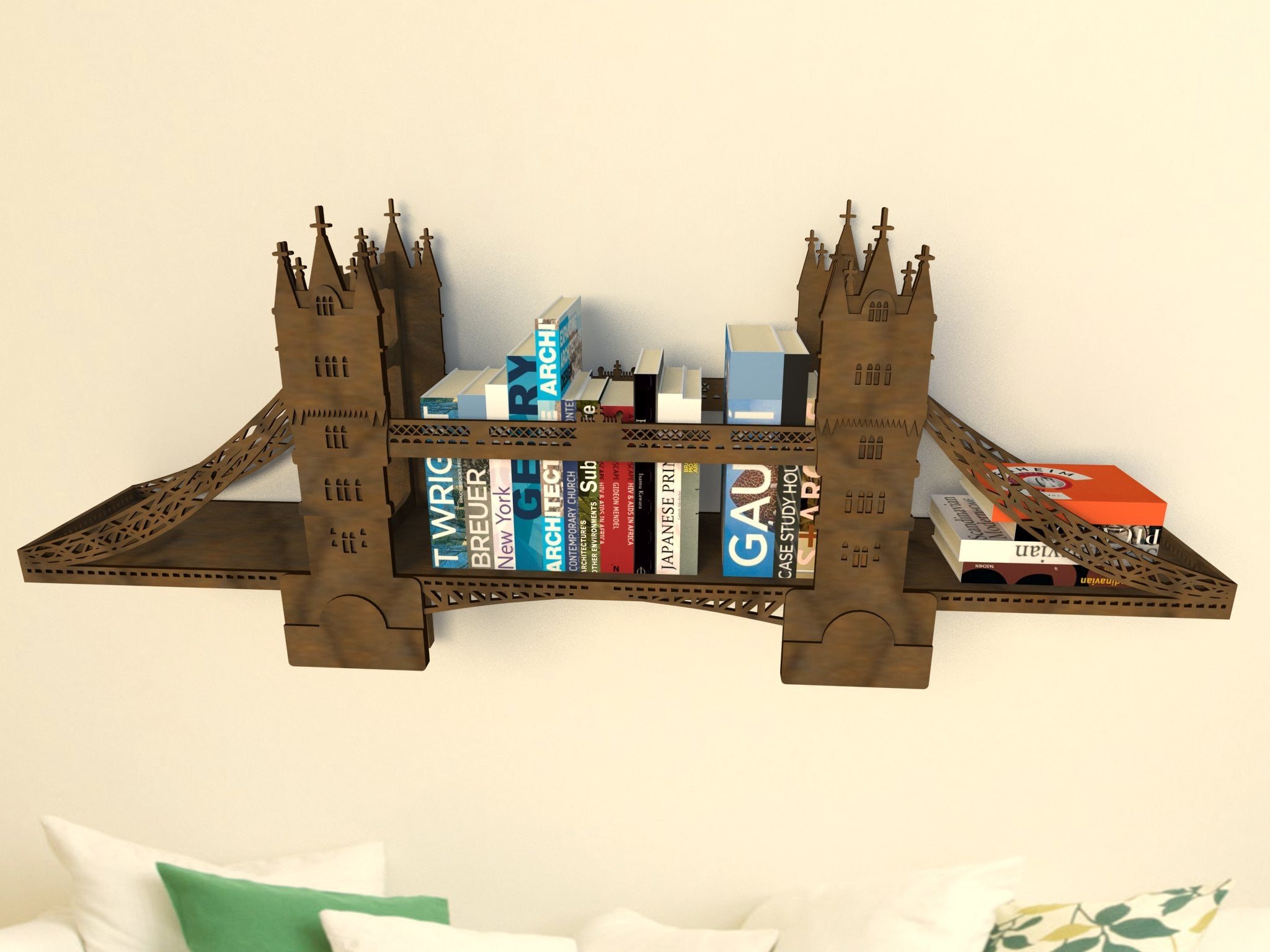 Полка Тауэрский Мост / Tower Bridge Shelf - WOODANDROOT - 12