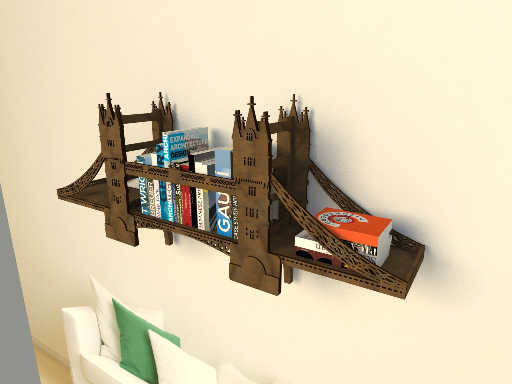 Полка Тауэрский Мост / Tower Bridge Shelf - WOODANDROOT - 13