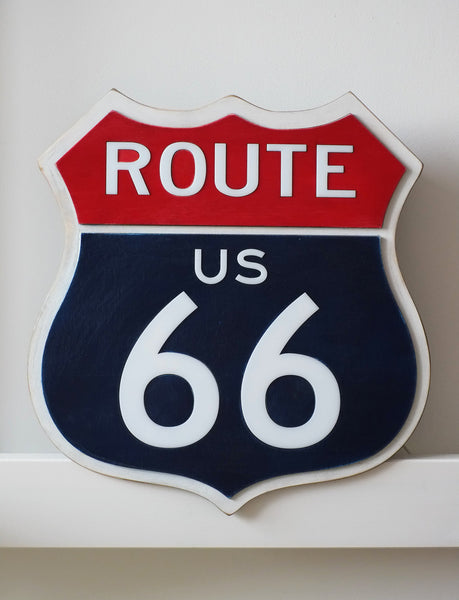 Светящийся знак Трасса 66 / Route 66 Sign - WOODANDROOT - 1