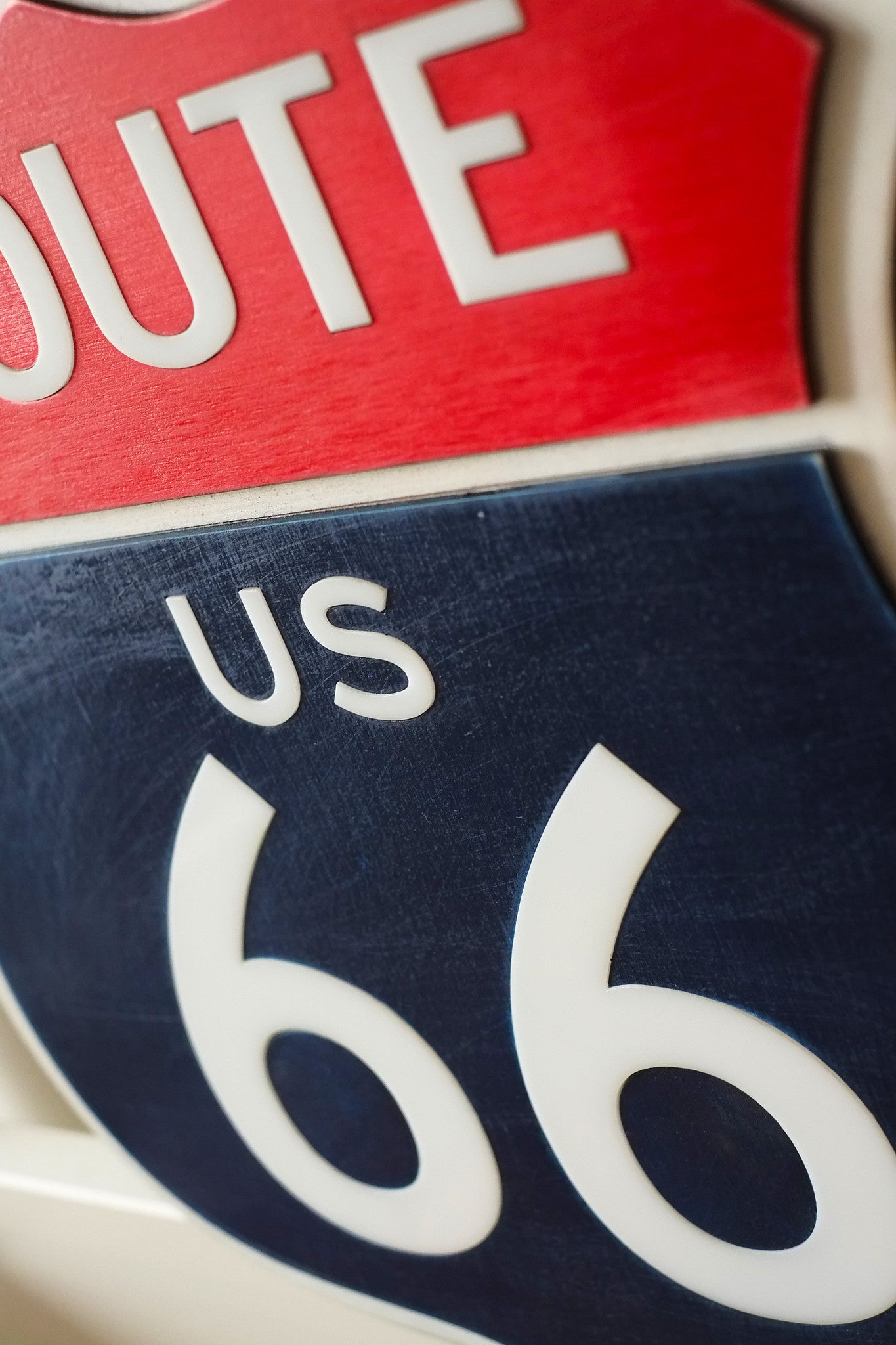 Светящийся знак Трасса 66 / Route 66 Sign - WOODANDROOT - 2