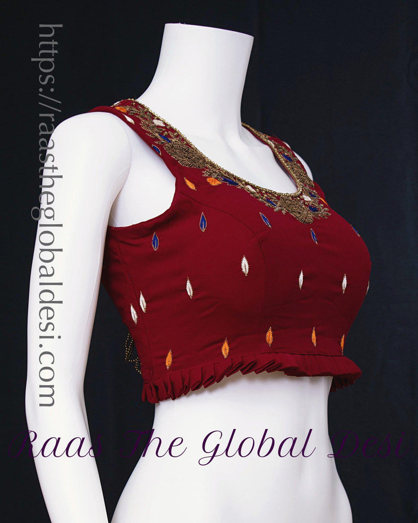 BL1590-BLOUSE-Raas The Global Desi-[readymade_saree_blouse_online_usa]-[readymade_saree_blouse]-[saree_blouse_online]-Raas The Global Desi