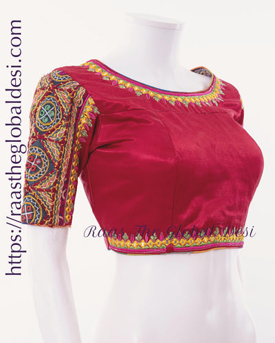 BL1531-BLOUSE-Raas The Global Desi-[readymade_saree_blouse_online_usa]-[readymade_saree_blouse]-[saree_blouse_online]-Raas The Global Desi