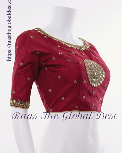 BL1547-BLOUSE-Raas The Global Desi-[readymade_saree_blouse]-[Readymade_saree_blouse_online]-[blouse]-Raas The Global Desi