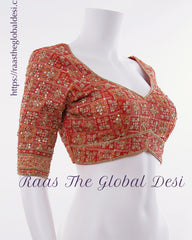 BL1549-BLOUSE-Raas The Global Desi-[readymade_saree_blouse]-[Readymade_saree_blouse_online]-[blouse]-Raas The Global Desi