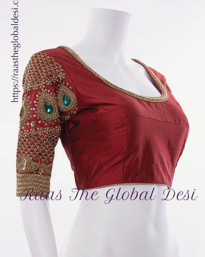 BL1551-BLOUSE-Raas The Global Desi-[readymade_saree_blouse]-[Readymade_saree_blouse_online]-[blouse]-Raas The Global Desi