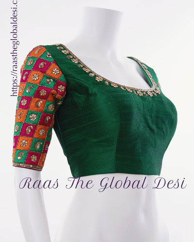 BL1552-BLOUSE-Raas The Global Desi-[readymade_saree_blouse]-[Readymade_saree_blouse_online]-[blouse]-Raas The Global Desi