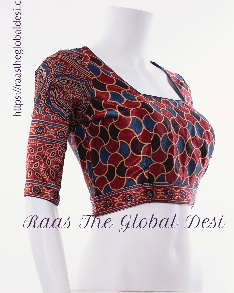 BL1568-BLOUSE-Raas The Global Desi-[readymade_saree_blouse]-[Readymade_saree_blouse_online]-[blouse]-Raas The Global Desi