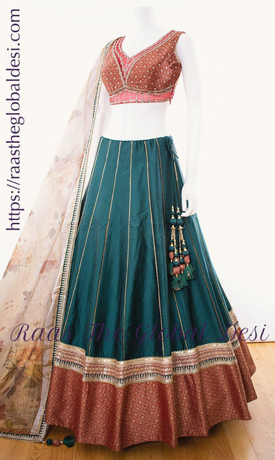 CC2917-CHANIYA CHOLI-Raas The Global Desi-[LEHENGA_CHOLI]-[CHANIYA_CHOLI]-[LEHENGA]-Raas The Global Desi