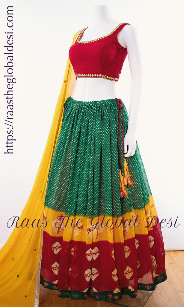 CC2918-Chaniya choli-Raas The Global Desi-[LEHENGA_CHOLI]-[CHANIYA_CHOLI]-[LEHENGA]-Raas The Global Desi