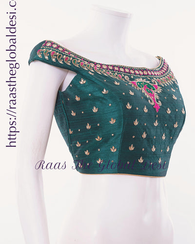 BL1517-BLOUSE-Raas The Global Desi-[readymade_saree_blouse_online_usa]-[readymade_saree_blouse]-[saree_blouse_online]-Raas The Global Desi