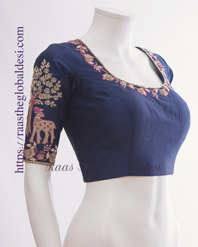 BL1494-BLOUSE-Raas The Global Desi-[readymade_saree_blouse_online_usa]-[readymade_saree_blouse]-[saree_blouse_online]-Raas The Global Desi