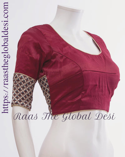 BL1431-BLOUSE-Raas The Global Desi-[readymade_saree_blouse_online_usa]-[readymade_saree_blouse]-[saree_blouse_online]-Raas The Global Desi