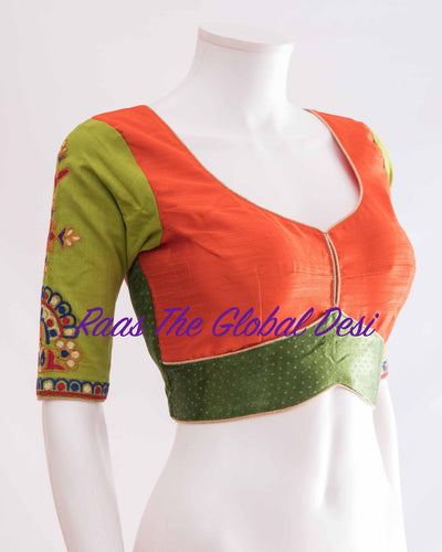 BL1342-BLOUSE-Raas The Global Desi-[readymade_saree_blouse_online_usa]-[readymade_saree_blouse]-[saree_blouse_online]-Raas The Global Desi