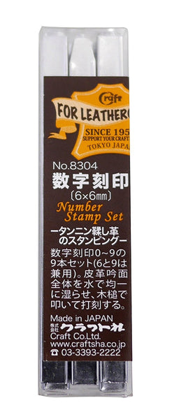 Leather Working Tools Japan Number Stamp Set (0-9) 9 book leather craft imprinted alphabet Leathercraft Craft Tool DIY - LeatherMob