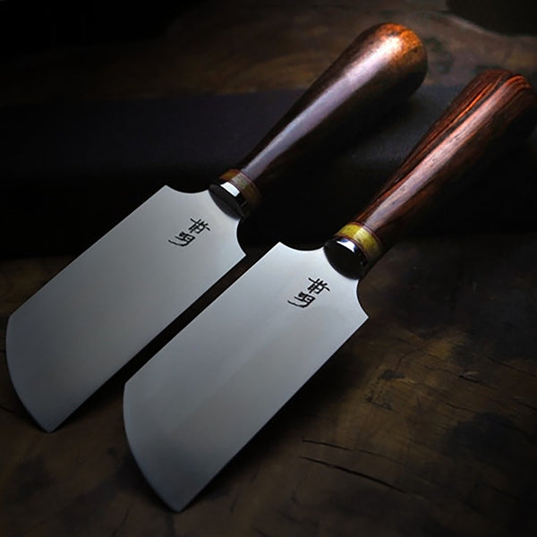 Oblique Round/Round/Flat M390 or XW42 Skiver Knives Cutting Skiving Edge Leather Leathercraft Tool