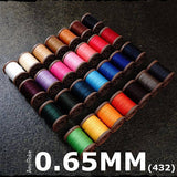 Leather Working Tools Atelier Amy Roke Polyester thread 0.65mm(432) Sewing Cable Linen Leathermob leathercraft Craft Tool - LeatherMob