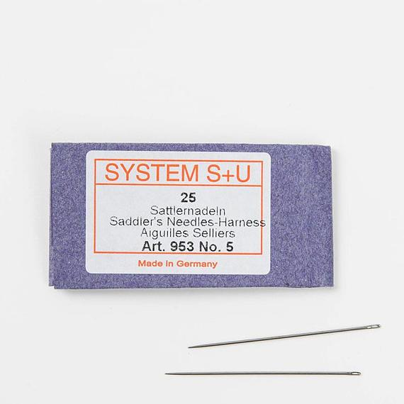 Leathermob Germany SYSTEM S+U Saddlers' Harness Needles /Leather Hand Sewing craft leathercraft Tool
