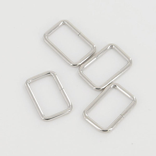 25mm Rectangular Wire Loops Rings Purse Handbag Hardware LeatherMob Leathercraft Leather