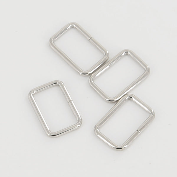 Leather Working Tools 25mm Rectangular Wire Loops Rings Purse Handbag Hardware LeatherMob Leathercraft Leather - LeatherMob