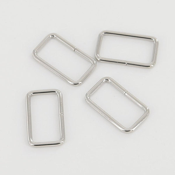 30mm Rectangular Wire Loops Rings Silver Finish Purse Handbag Hardware Leathercraft Leather