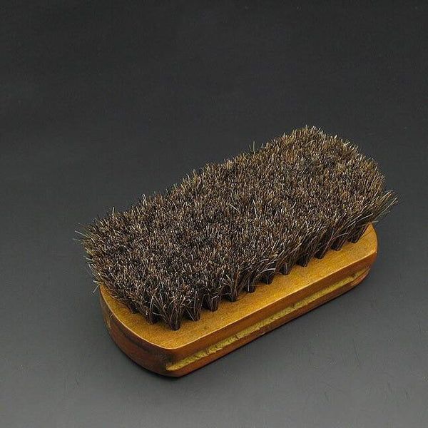 Mini Size Brush Wooden Polish Maintain Cleaning, Horsehair
