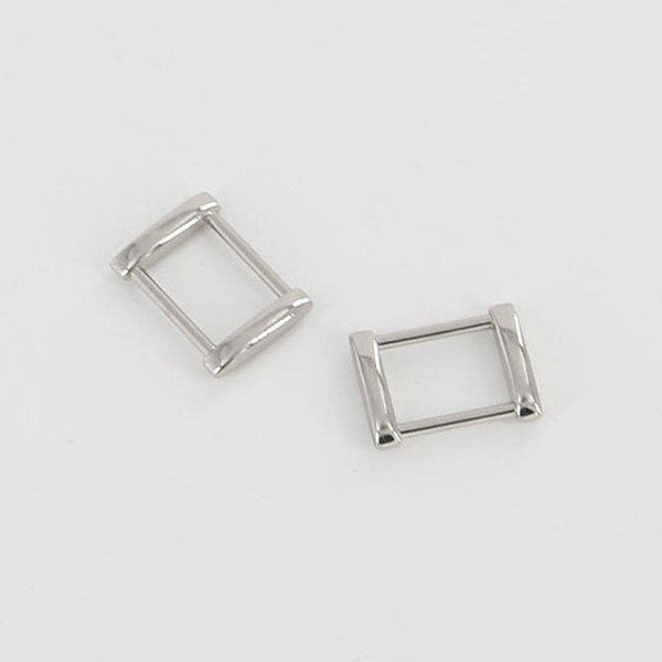 18mm Rectangular Ring Solid Square Ring Strap Buckle Strap Connector High End Leathercraft Leather