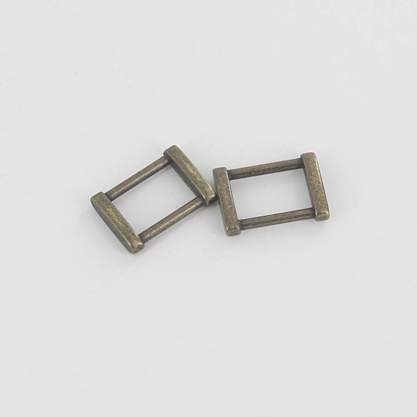 21mm Rectangular Ring Solid Square Ring Strap Buckle Strap Connector High End Leathercraft Leather