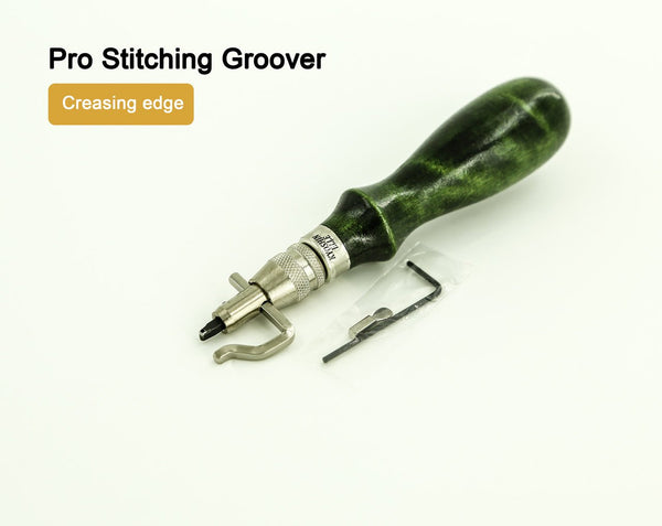 Pro Stitching Adjustable Leather Groover Creasing Set LeatherMob Leathercraft Craft Tool
